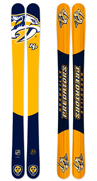 Nhl nashville predators skis small